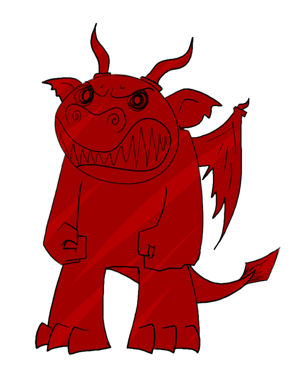Dragon: small, red, very angry