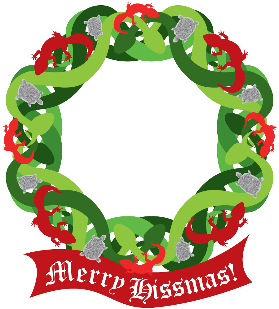 hissmass wreath small