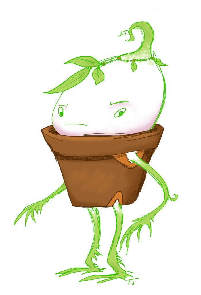 judgy little plantman